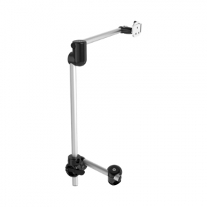 Rehadapt Monty 3D K R Rehadapt Monty 3D Curved L-QS Two-Tube mount with an enhanced 30 cm offset (#11,8″) to place devices in front of the lap.
