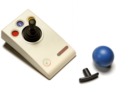 Simplyworks Joystick Uses 2.4GHz global, licence-free ISM radio band. Works with any SImplyWorks® receiver for computer input or toy control. Light touch joystick movement (0.5 Newtons) Auto detecting PS2 and USB protocols